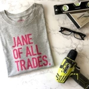 "J.Crew ""Jane of all trades"" T-shirt Size XS"